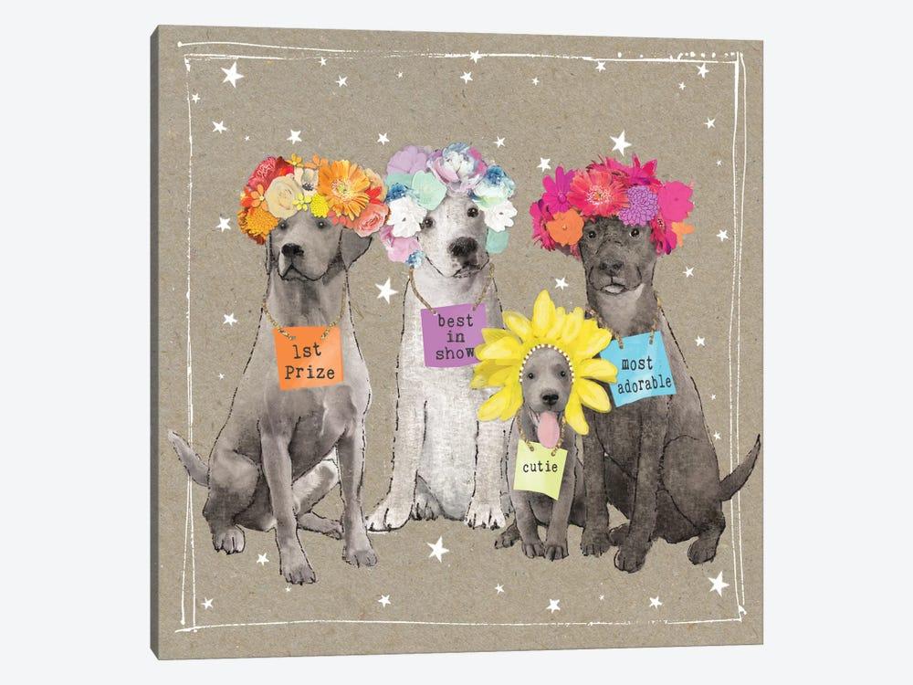Fancypants Wacky Dogs V by Hammond Gower 1-piece Canvas Print