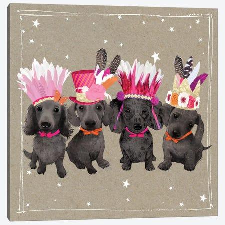 Fancypants Wacky Dogs VII Canvas Print #HGO43} by Hammond Gower Canvas Art