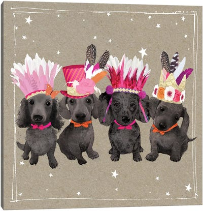 Fancypants Wacky Dogs VII Canvas Art Print