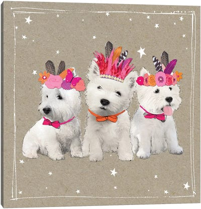 Fancypants Wacky Dogs VIII Canvas Art Print