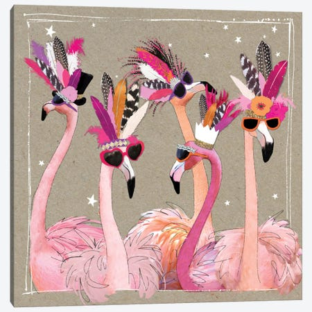 Fancy Pants Bird IV Canvas Print #HGO4} by Hammond Gower Art Print