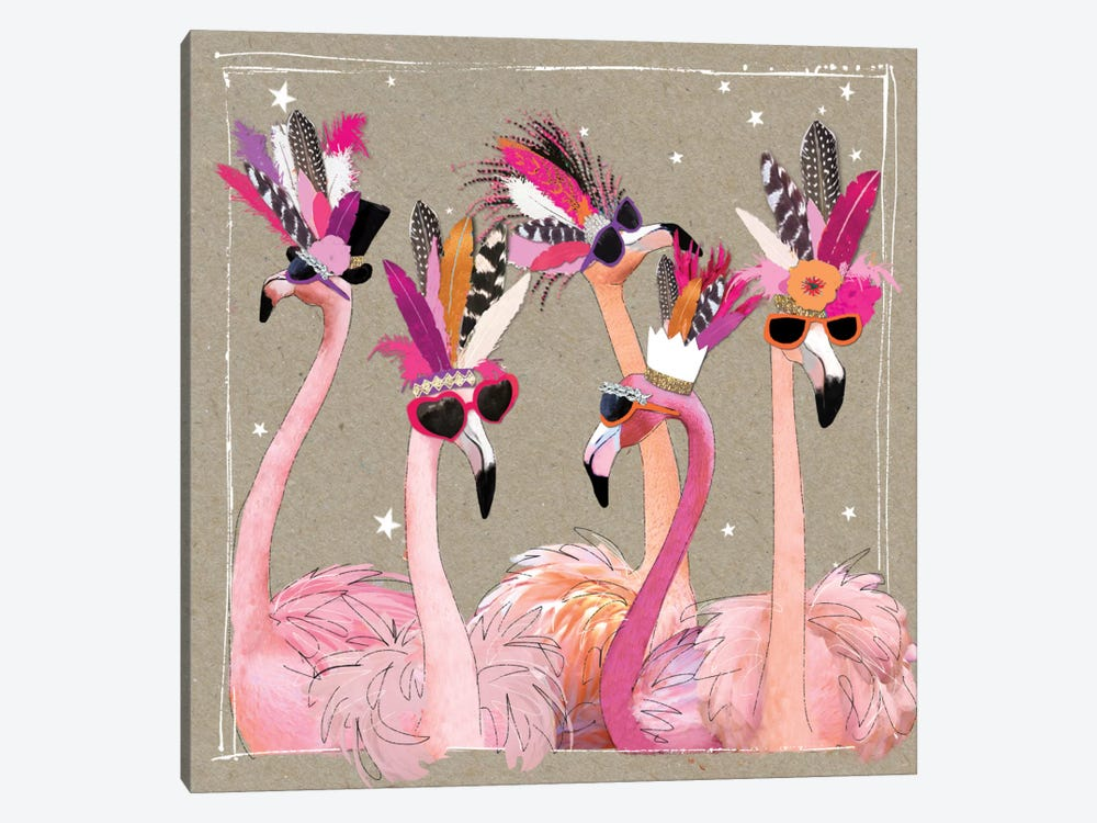 Fancy Pants Bird IV 1-piece Canvas Art