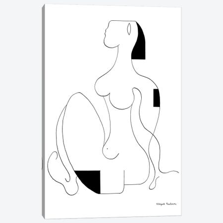 Sitting Women Canvas Print #HHA104} by Hildegarde Handsaeme Canvas Artwork