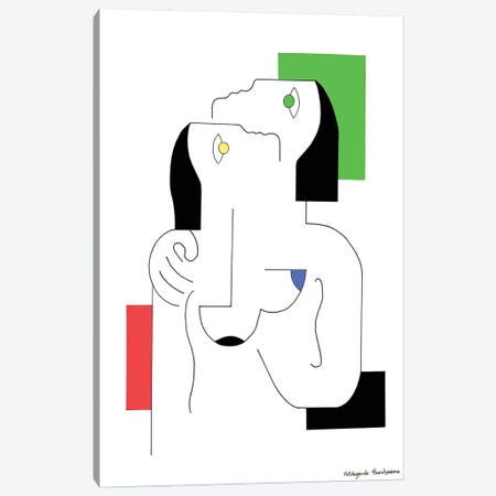 Tendresse En Couleurs Canvas Print #HHA113} by Hildegarde Handsaeme Canvas Artwork