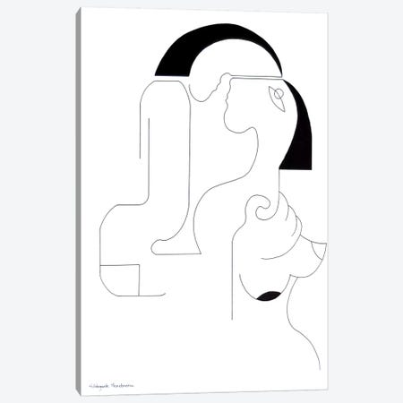 Tendresse II Canvas Print #HHA114} by Hildegarde Handsaeme Art Print