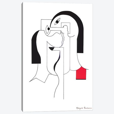 The Black Nail Canvas Print #HHA117} by Hildegarde Handsaeme Canvas Print