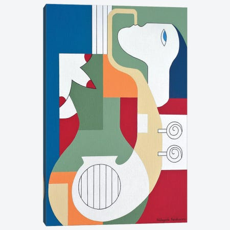 The Saxo Charm Canvas Print #HHA123} by Hildegarde Handsaeme Canvas Print