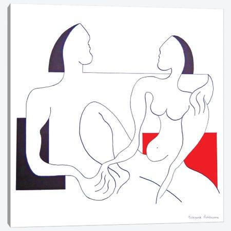 Together Canvas Print #HHA126} by Hildegarde Handsaeme Canvas Artwork