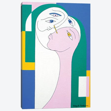 Trio II Canvas Print #HHA128} by Hildegarde Handsaeme Art Print