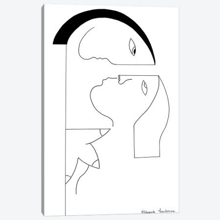 Un Regard Intense Canvas Print #HHA133} by Hildegarde Handsaeme Canvas Wall Art