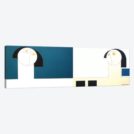White Man Blue Man Canvas Print #HHA140} by Hildegarde Handsaeme Canvas Art Print