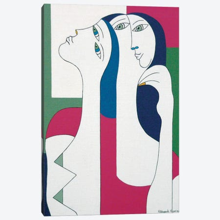 Women With Yellow Nail Canvas Print #HHA146} by Hildegarde Handsaeme Canvas Wall Art
