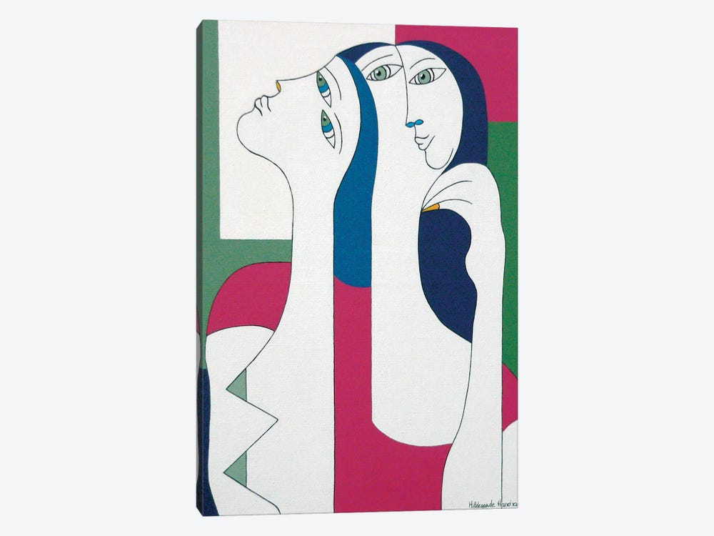 Women With Yellow Nail by Hildegarde Handsaeme 1-piece Canvas Artwork