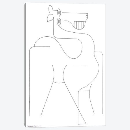 Horse Out Of The Box 3-Piece Canvas #HHA149} by Hildegarde Handsaeme Canvas Art Print