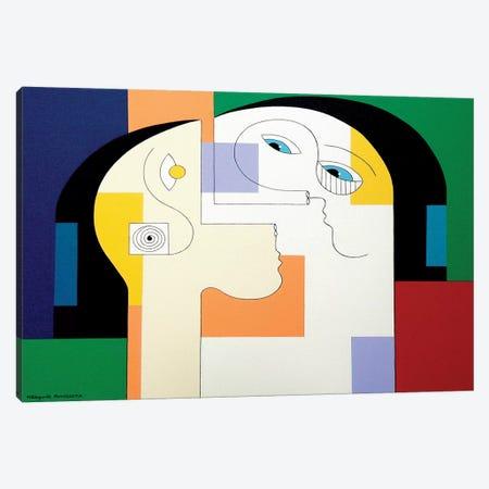Unité Duo Canvas Print #HHA161} by Hildegarde Handsaeme Canvas Print