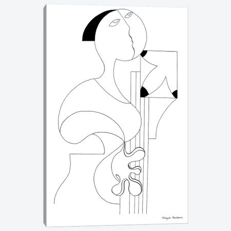 La Femme Musicale II Canvas Print #HHA165} by Hildegarde Handsaeme Canvas Art