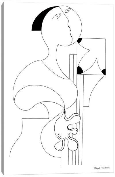 La Femme Musicale II Canvas Art Print