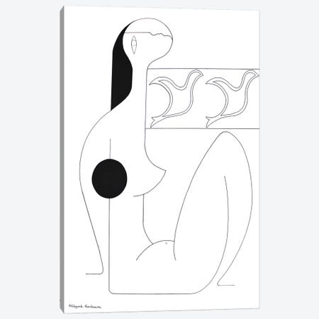 Un moment décontracté Canvas Print #HHA166} by Hildegarde Handsaeme Canvas Wall Art