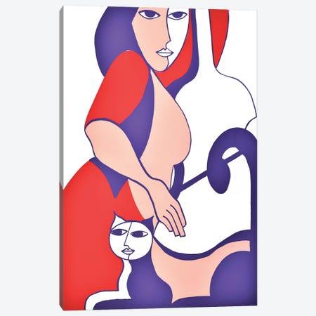 La Musicienne Canvas Print #HHA175} by Hildegarde Handsaeme Art Print