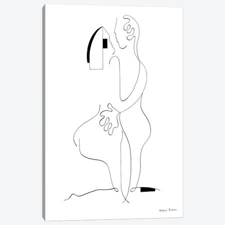 Lovers Canvas Print #HHA177} by Hildegarde Handsaeme Canvas Print