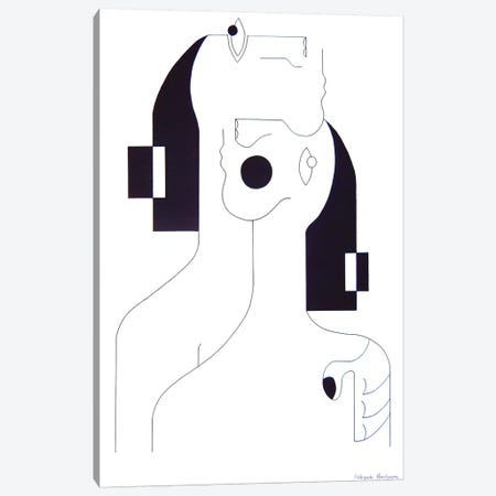 Consolation Drawing Canvas Print #HHA18} by Hildegarde Handsaeme Canvas Print