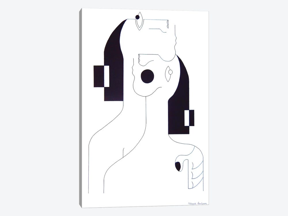 Consolation Drawing by Hildegarde Handsaeme 1-piece Canvas Art Print