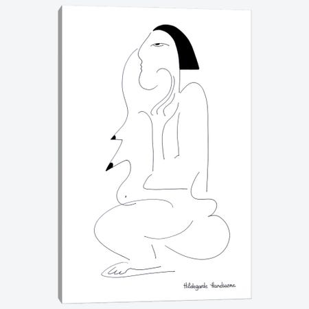 Madame Monsieur Canvas Print #HHA199} by Hildegarde Handsaeme Canvas Art