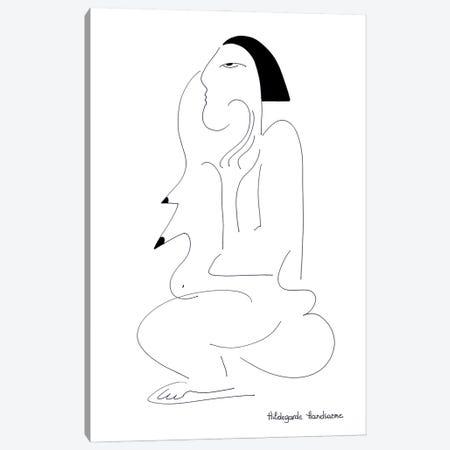 Madame Monsieur Canvas Print #HHA199} by Hildegarde Handsaeme Canvas Art