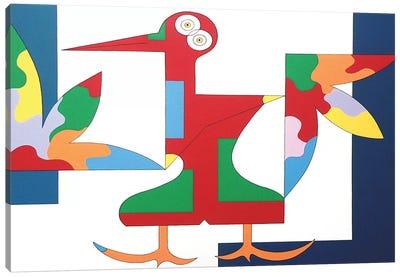 The Free Red Bird XL Canvas Art Print
