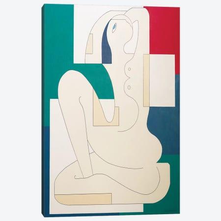 La Signora Canvas Print #HHA202} by Hildegarde Handsaeme Canvas Artwork