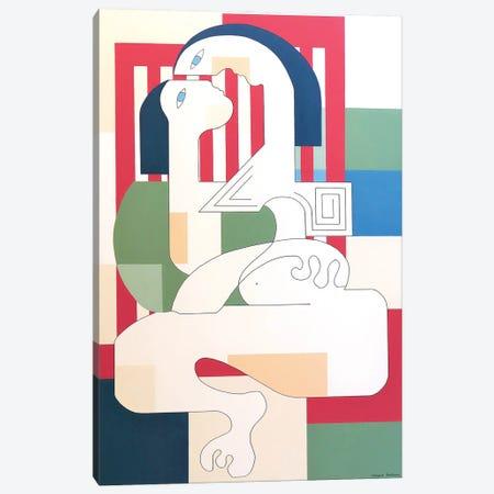 Amourette Canvas Print #HHA203} by Hildegarde Handsaeme Canvas Wall Art