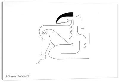 Les lignes de la femme Canvas Art Print