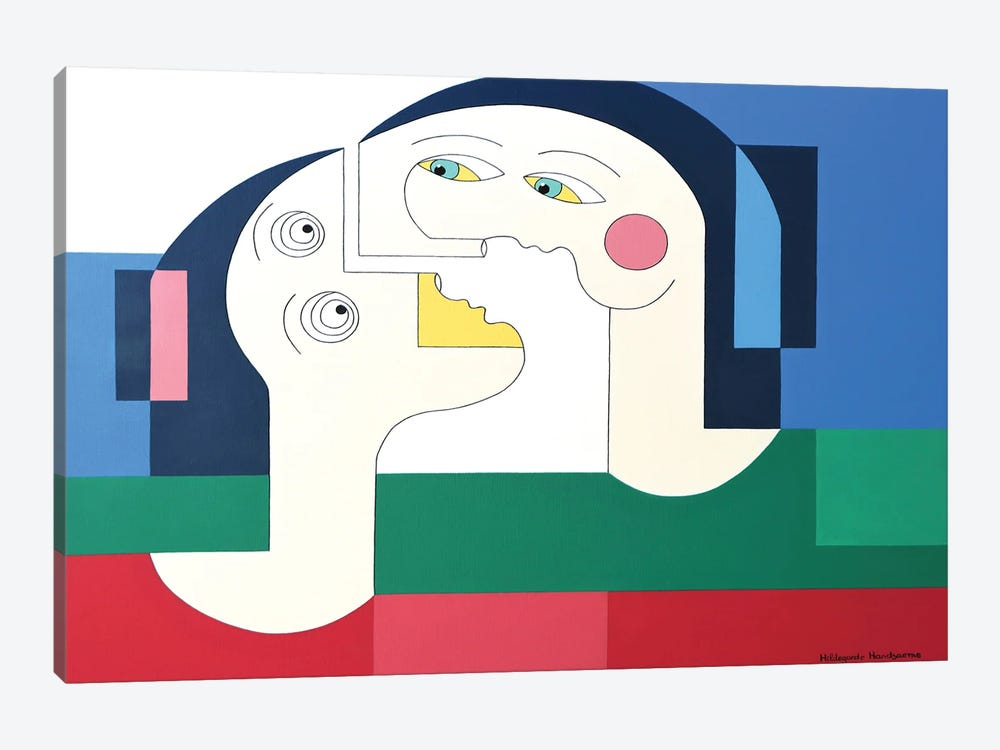 The Flying Lovers XL by Hildegarde Handsaeme 1-piece Canvas Print