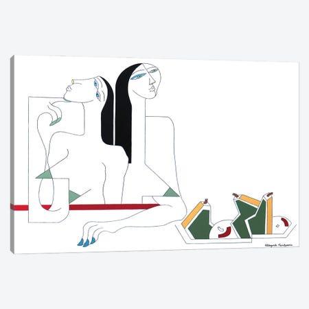 U Moment De Relaxation Canvas Print #HHA216} by Hildegarde Handsaeme Canvas Artwork