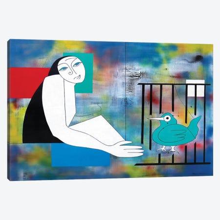 L'Indépendance De L'Oiseau Canvas Print #HHA218} by Hildegarde Handsaeme Art Print