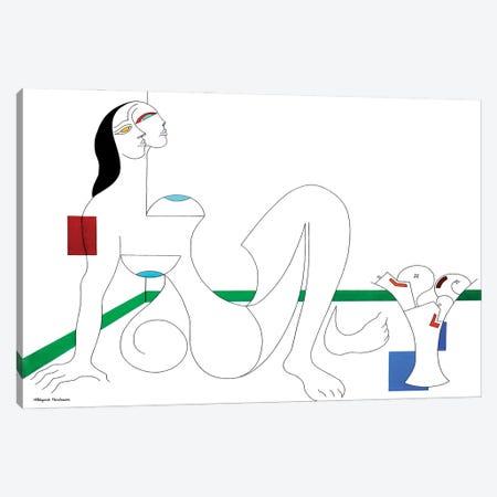 Uneboucledefesse Canvas Print #HHA219} by Hildegarde Handsaeme Art Print