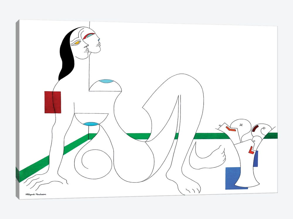 Uneboucledefesse by Hildegarde Handsaeme 1-piece Canvas Wall Art