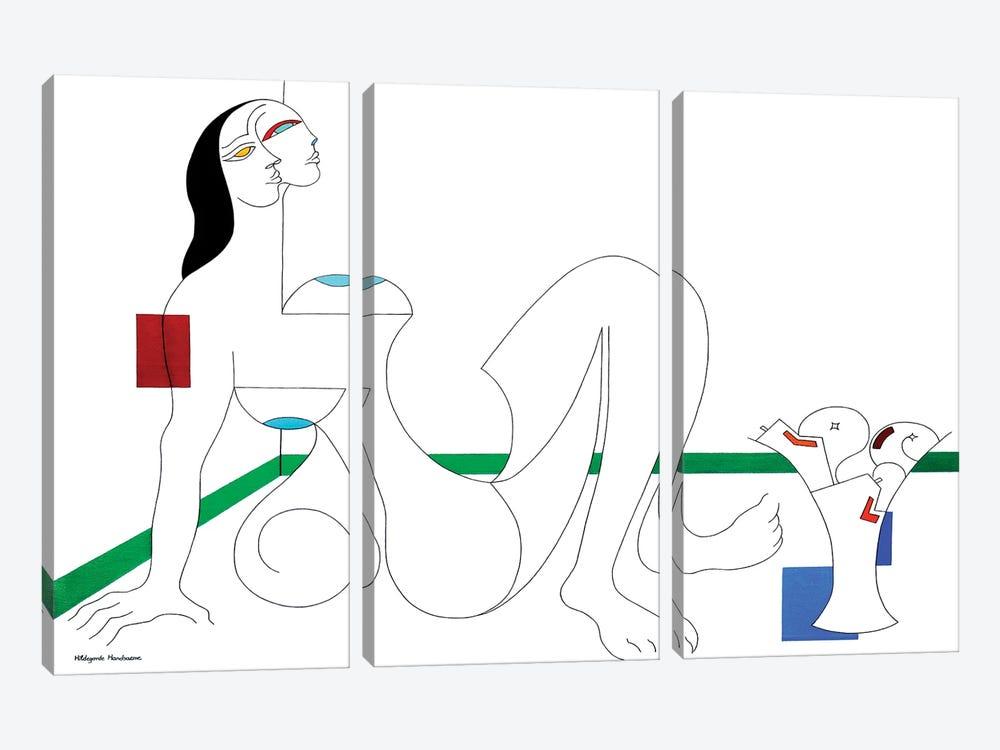Uneboucledefesse by Hildegarde Handsaeme 3-piece Canvas Art