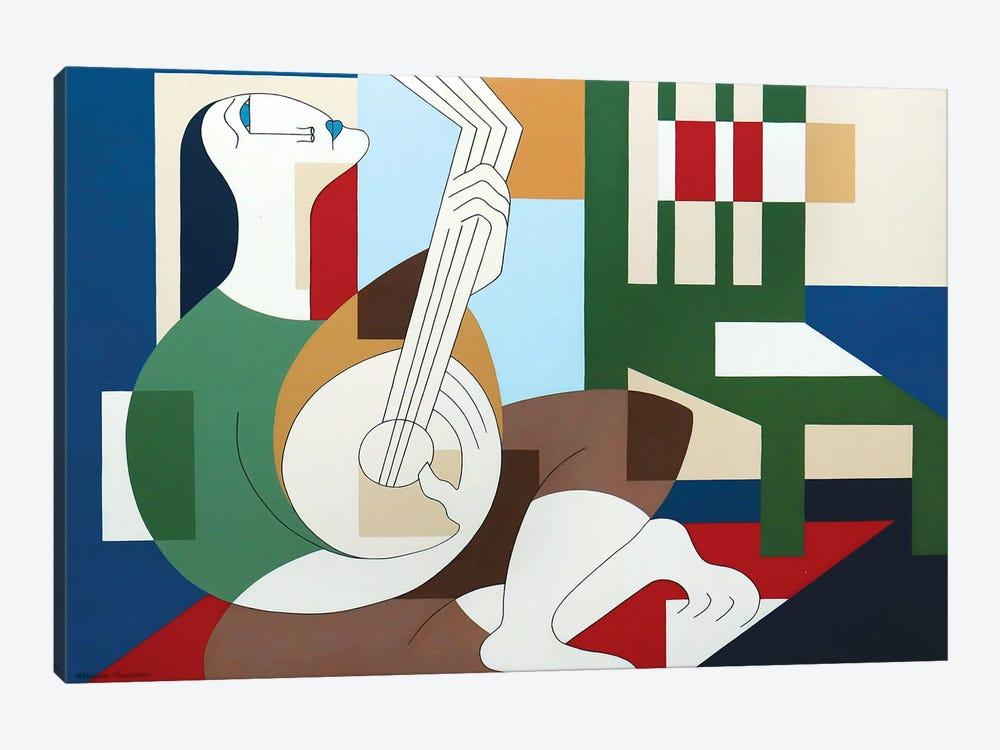 The Happy Banjoplayer by Hildegarde Handsaeme 1-piece Canvas Artwork