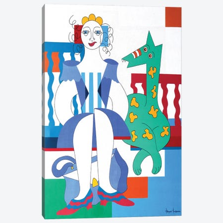 Happy Time Canvas Print #HHA221} by Hildegarde Handsaeme Canvas Wall Art
