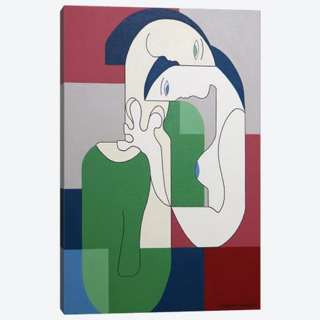 Reciproco Canvas Print #HHA224} by Hildegarde Handsaeme Canvas Print