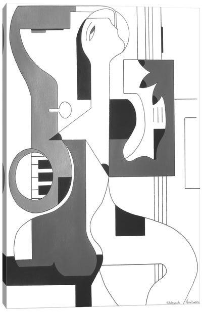 Composition Musicale Canvas Art Print