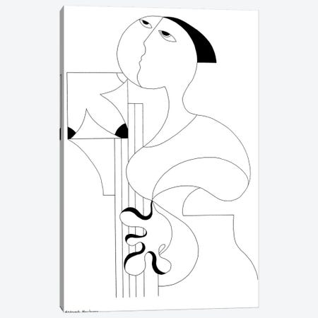 Drawing Solo Canvas Print #HHA26} by Hildegarde Handsaeme Canvas Print