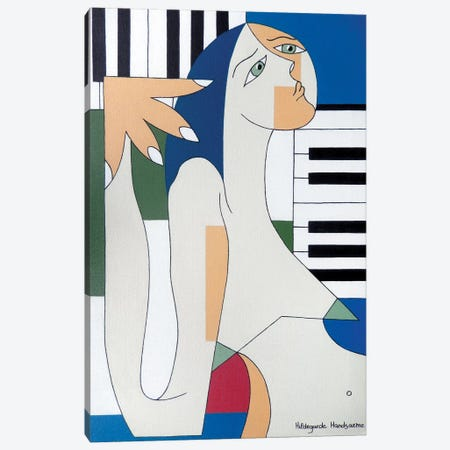 Absolu Musical Canvas Print #HHA2} by Hildegarde Handsaeme Art Print