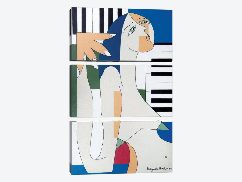 Absolu Musical by Hildegarde Handsaeme 3-piece Canvas Artwork