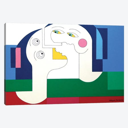 Flying Lovers Canvas Print #HHA37} by Hildegarde Handsaeme Canvas Artwork