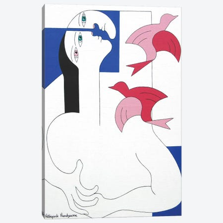 Friendship Canvas Print #HHA39} by Hildegarde Handsaeme Art Print