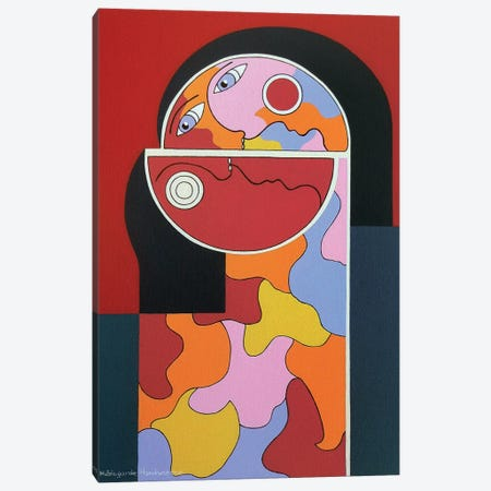 In Vino Veritas Canvas Print #HHA45} by Hildegarde Handsaeme Canvas Print