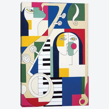 Instrumentaal Canvas Print #HHA46} by Hildegarde Handsaeme Canvas Art Print
