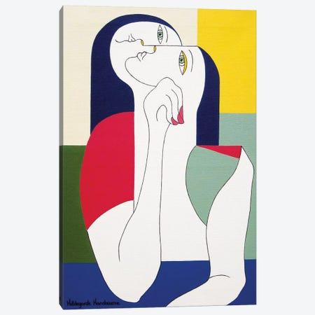 La Pensée Sauvage Canvas Print #HHA52} by Hildegarde Handsaeme Art Print